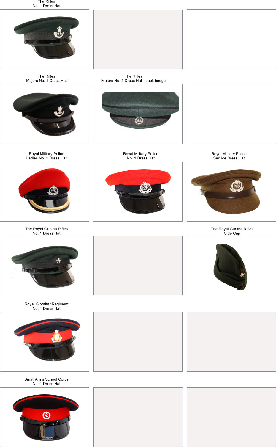 British Army headwear made by cooper Stevens
