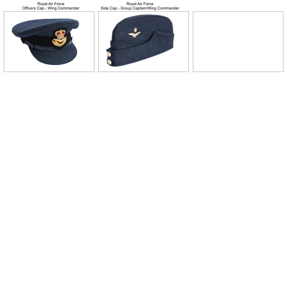 Royal Air Force headwear made by cooper Stevens