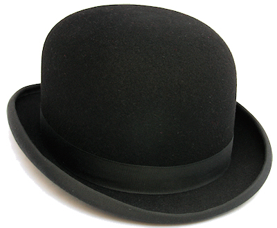 Black Bowler Hat from Cooper Stevens